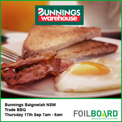 Bunnings Balgowlah Warehouse NSW Trade BBQ – Thursday 17th September