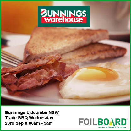 Bunnings Lidcombe Warehouse NSW Trade BBQ – Wednesday 23rh September