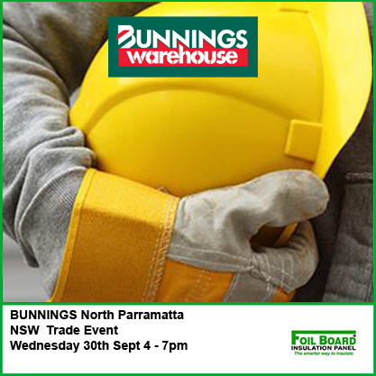 Bunnings North Parramatta Warehouse NSW Trade Event- Wednesday 30th September