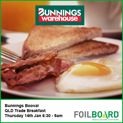 Bunnings Booval Warehouse QLD Trade BBQ Breakfast – Thursday 14th January