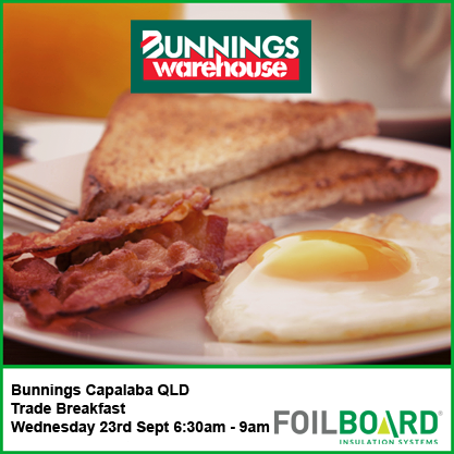 Bunnings Capalaba Warehouse QLD Trade BBQ Breakfast – Wednesday 23rd September