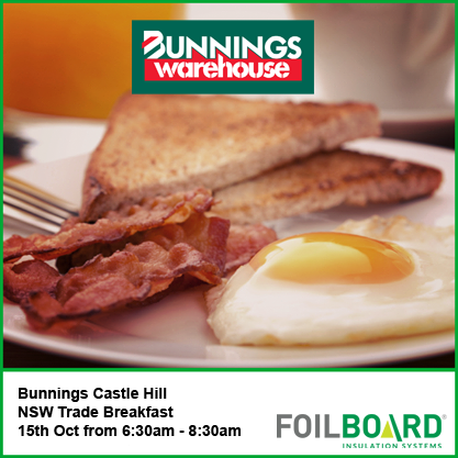 Bunnings Castle Hill Warehouse NSW Trade BBQ – Wednesday 15th October