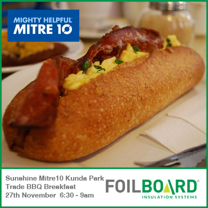 Sunshine Mitre 10 Kunda Park – Trade BBQ Breakfast Friday 27th November