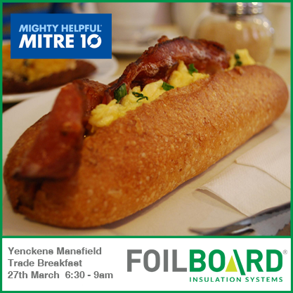 Sunshine Mitre 10 Gympie QLD Trade Breakfast – Friday 31st July