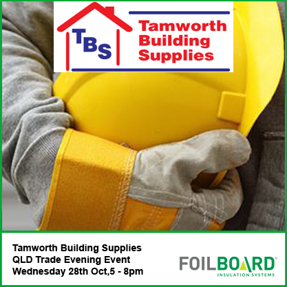 Tamworth Building Supplies QLD Trade Evening Event – Wednesday 28th October