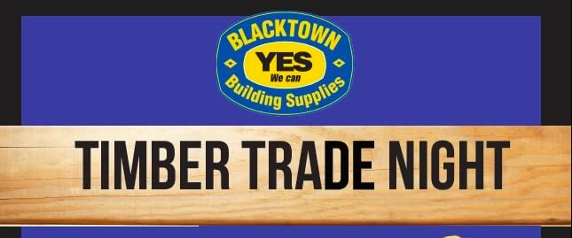 BBS – FREE Timber Trade Night March 2019